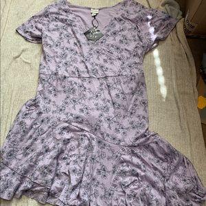NWT Ava & Viv Plus Size Dress Lilac Print Size 4X